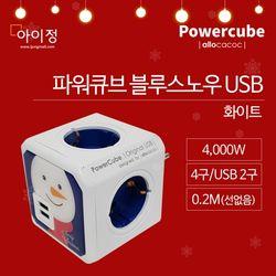 파워큐브 USB 오리지널 블루스노우 크리스마스 에디션