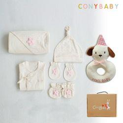 [무료배송/선물박스증정] [CONY]오가닉베이비6종선물세트(여아5종+강아지딸랑이