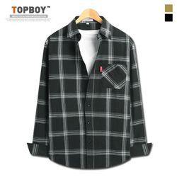 [탑보이] 기획 큰사각 체크 셔츠 (TSPL154)