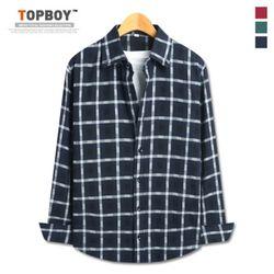 [탑보이] 기획 도비 체크 셔츠 (TSPL155)