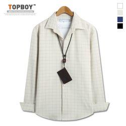 [탑보이] 바둑이 오버핏 체크 셔츠 (DO240)