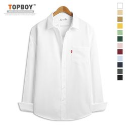 [탑보이] 9컬러 오버핏 포켓 무지 셔츠 (DO241)