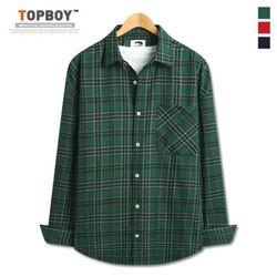 [탑보이] 스탠다드 오버핏 체크 셔츠 (DO242)