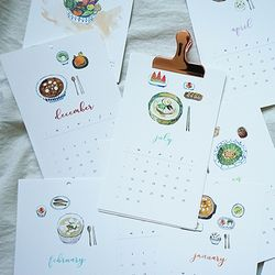 Seasonal Tables 수채화 달력