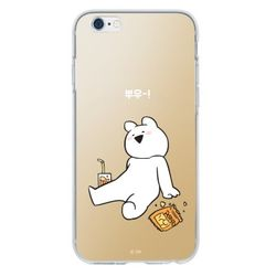 LG G6 오버액션토끼 미러케이스-뿌우