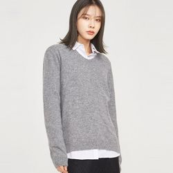 supple v-neck angora wool knit