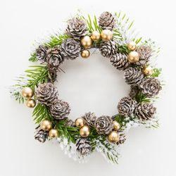 크리스마스 미니 리스 - 화이트 크리스마스
