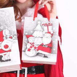 크리스마스 산타 쇼핑백 (소) 랜덤