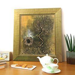 행운을부르는그림 돈나무액자 유화그림 번창의 나무