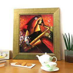 행운을부르는그림  유화그림 그림선물 여인의 멜로디