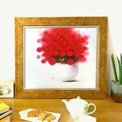 복을부르는그림 유화그림 그림선물 사랑의 붉은꽃그림
