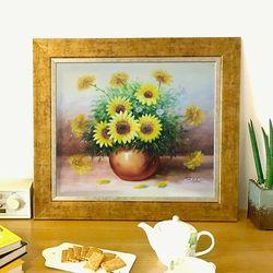 돈들어오는그림  유화그림 그림선물 부귀의 꽃병 10호