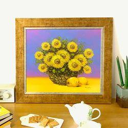 돈들어오는그림 유화그림 정물화 황금 해바라기그림