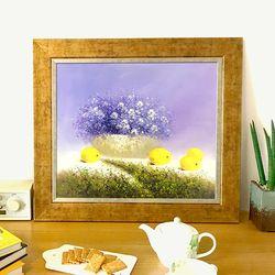 거실그림 유화그림 돈들어오는그림 사랑꽃과 과일