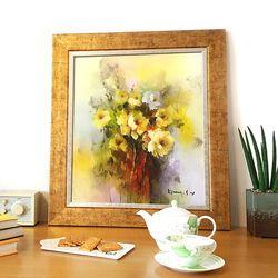 거실그림 복을부르는그림 유화그림 예쁜그림 꽃다발1