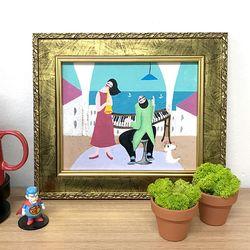 그림선물 유화그림 그림액자 인테리어액자 행복한연주