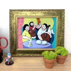 그림선물 유화그림 행운을부르는그림 행복한가족