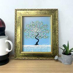 그림선물 유화그림 풍수지리그림 거실그림 행복한나무