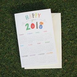 행복한 2018 달력 카드
