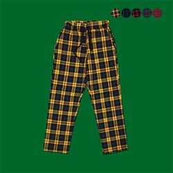 Classical Plaid Relaxed fit Pants (5color)(unisex)