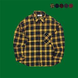 Classical Plaid Over fit Shirt (5color)(unisex)