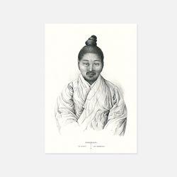 아트인데코 한국과 한국인엽서-판화07