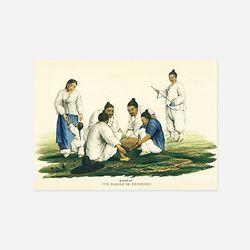 아트인데코 한국과 한국인엽서-판화14