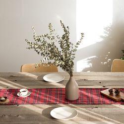 크리스마스 테이블 러너 메리 체크-4인(32x175cm)
