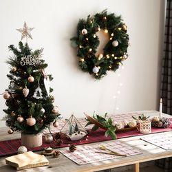 크리스마스 테이블 러너 메리 체크-6인(32x220cm)