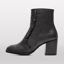 7124 Frill Ankle boots Black
