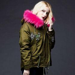 Pink Fur Safari Jacket