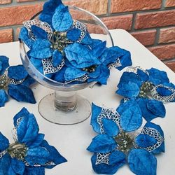 포인꽃 22cm 블루 12개 세트