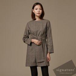 60 울 Waist check dress