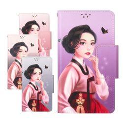 갤럭시노트5(N920) 케이스 ICZ-Cubig모란꽃녀