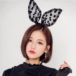 [로코식스] dot bunny headband헤어밴드