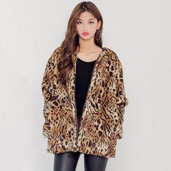 [로코식스] leopard fake far JK자켓
