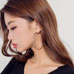 [로코식스] focus metal ring earring귀걸이