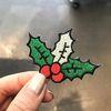 가시나무 장식 크리스마스 와펜스티커