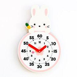 교육용 벽시계 시리즈 [토끼] (무소음)