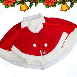 산타망토 3종(영아용 아동용) 일반 벨벳 고급 산타옷