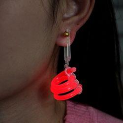 6p 블링팝 파티용 야광 회오리 귀걸이