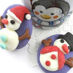 눈사람비누 (5인용)DIY 솝클레이 선물 크리스마스