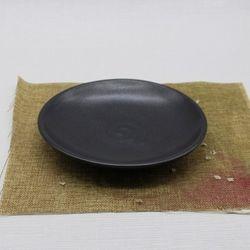 핸드메이드 도자기그릇 프리미엄블랙 원찬기 접시-대
