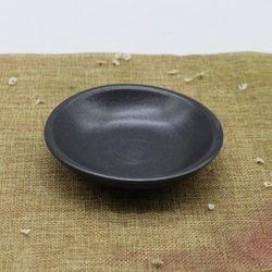 핸드메이드 도자기그릇 프리미엄블랙 원찬기 접시-소