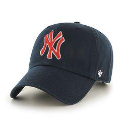 47브랜드 MLB모자 뉴욕 양키즈 네이비 레드로고
