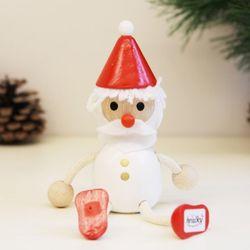 크리스마스 목각장식인형-HRA-WT1-WH