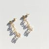 3 Layers Crystal Drop Earrings