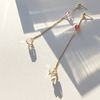 Double Color Crystal Drop Single Earring
