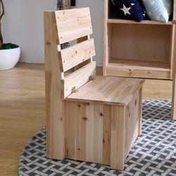 청사초롱 삼나무 원목 의자