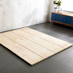청사초롱 삼나무 원목 침대 접이식 깔판 Q